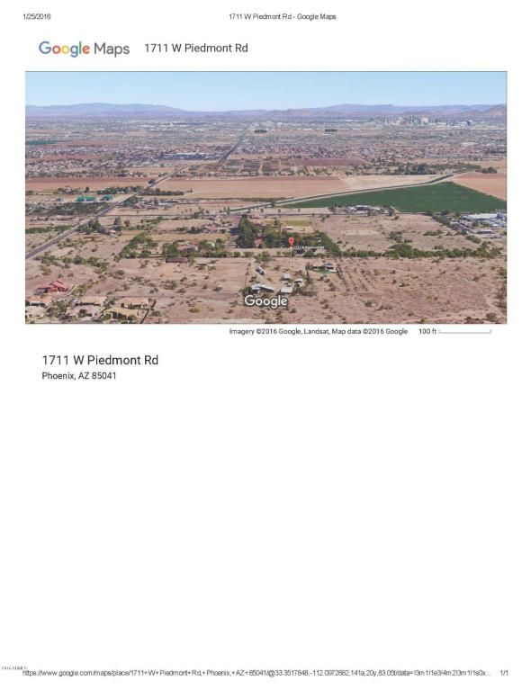 1711 W. Piedmont Rd. , Lot 2, Phoenix, AZ 85041 Photo 1